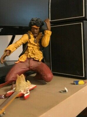 2004 McFarlane Toys JIMI HENDRIX 2 At MONTEREY Pop Festival Action Figure Loose • 66.04£