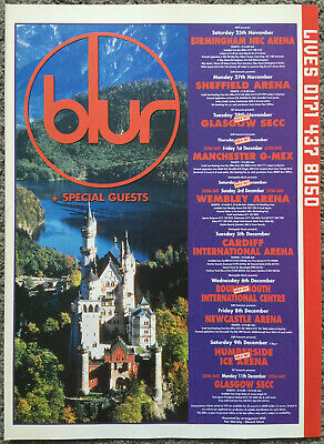 BLUR - TOUR DATES 1995 Full Page UK Magazine Ad • 3.95£