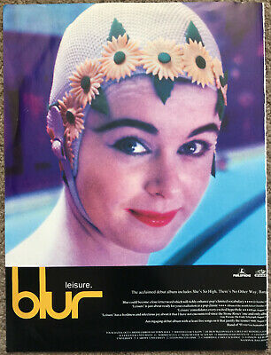 BLUR - LEISURE 1991 Full Page UK Magazine Ad • 3.95£