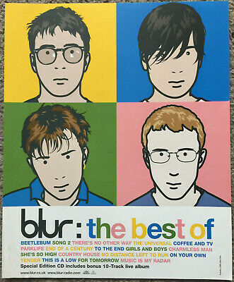 BLUR - THE BEST OF 2000 Full Page UK Magazine Ad • 3.95£