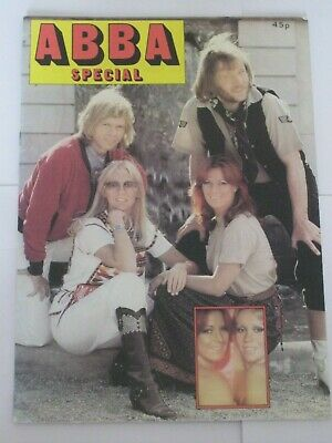 Uk Abba Magazine Special 1978 32 Pages Glossy Colour Agnetha Frida • 13.99£