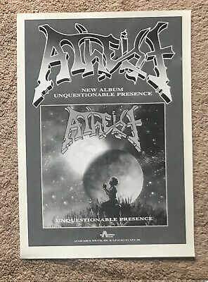 ATHEIST - UNQUESTIONABLE PRESENCE 1991 Full Page UK Magazine Ad • 3.95£