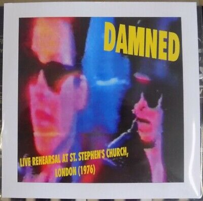 The Damned - Live Rehearsal, London (1976) 4 Track E.P 7  Clear Vinyl. • 20£
