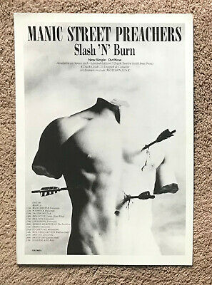 MANIC STREET PREACHERS - SLASH N BURN / TOUR DATES 1992 Full Page UK Magazine Ad • 3.95£