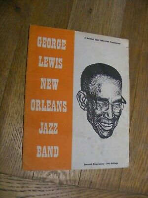 GEORGE LEWIS NEW ORLEANS JAZZ BAND - 1959 Concert Programme, Manchester. • 8£