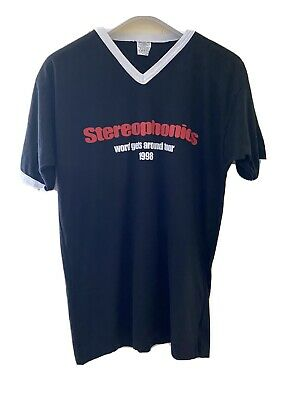 Stereophonics Vintage T Shirt 'Word Gets Round' Tour 1998 Large • 3.86£