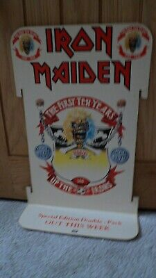 Iron Maiden - Promo Shop Standee / Display - The First Ten Years • 125£