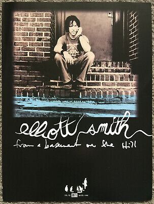 ELLIOTT SMITH - FROM A BASEMENT ON THE HILL 2004  Full Page UK Magazine Ad • 3.95£