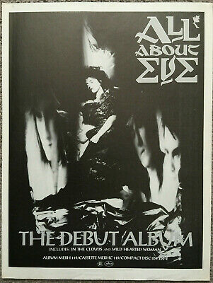 ALL ABOUT EVE - THE DEBUT ALBUM 1988 Full Page UK Magazine Ad • 3.95£