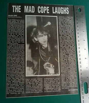 Julian Cope Memorabilia Clippings • 5£