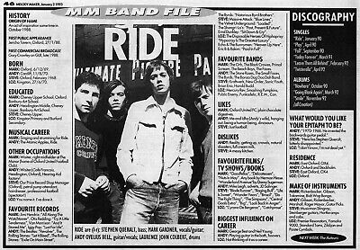 Ride Memorabilia Clipping • 5£