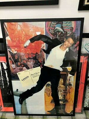 Framed David Bowie Genuine Rca 1979 Original Lodger Promotional Poster • 189£