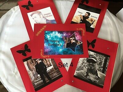 George Michael Birthday Card X5 In Each Set • 9£