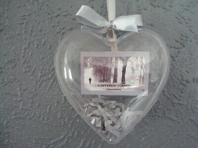'GEORGE MICHAEL' Hanging Heart Decs. Choice Of 8.  NEW • 7£