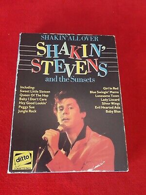 Shakin All Over -SHAKIN STEVENS And The Sunsets Boxed 2 Cassette Tape Pack • 19.95£