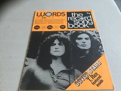 The Record Song Book T Rex • 3.99£