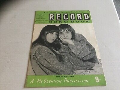 The Record Song Book Soony And Cher • 3.99£