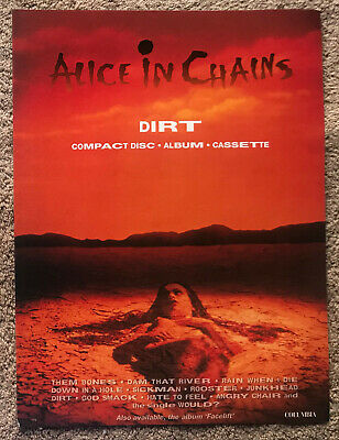 ALICE IN CHAINS - DIRT 1992 Full Page UK Magazine Ad • 3.95£