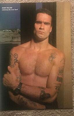 HENRY ROLLINS - 1992 Full Page UK Magazine Poster ROLLINS BAND • 3.95£