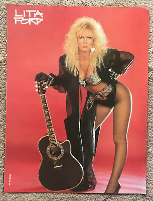 LITA FORD - 1992 Full Page UK Magazine Poster THE RUNAWAYS • 3.95£