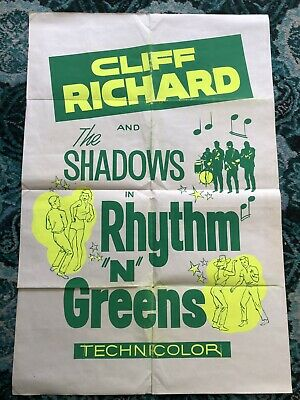 Cliff Richard And The Shadows Rhythm And Greens Original  Poster • 150£