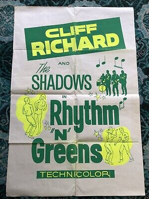 Cliff Richard And The Shadows Rhythm And Greens Original  Poster • 250£
