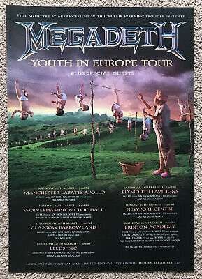 MEGADETH - YOUTH IN EUROPE TOUR 1995 Full Page UK Magazine Ad • 3.95£
