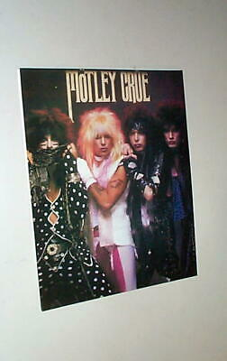 MOTLEY CRUE LOT Of Vintage Stickers/ Decal/ Postcard/Photocard • 6.24£