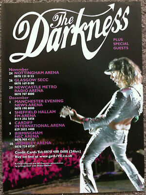 THE DARKNESS - TOUR DATES 2004 Full Page UK Magazine Ad • 3.95£