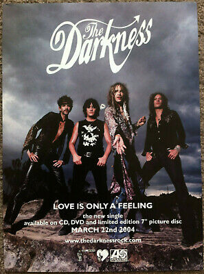 THE DARKNESS - LOVE IS ONLY A FEELING 2004 Full Page UK Magazine Ad • 3.95£