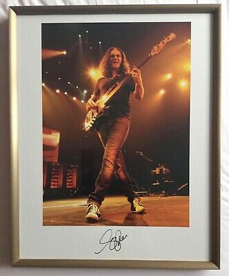 Andrew MacNaughtan Geddy Lee Signed Print #22/50 - S&A Tour Malignant Narcissism • 999£