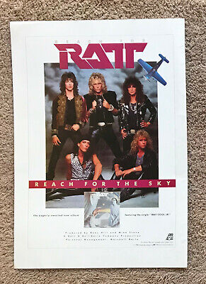 RATT - REACH FOR THE SKY 1988 Full Page UK Magazine Ad • 3.95£