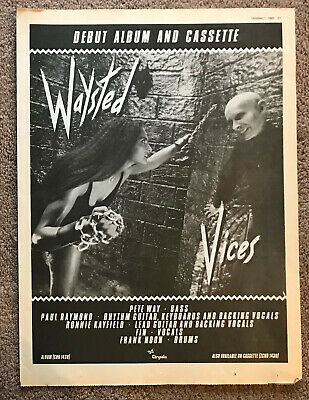WAYSTED - VICES 1983 Full Page UK Magazine Ad • 3.95£
