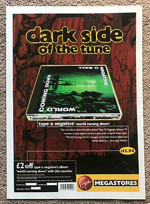TYPE O NEGATIVE - WORLD COMING DOWN 1999 Full Page UK Magazine Ad  • 3.95£