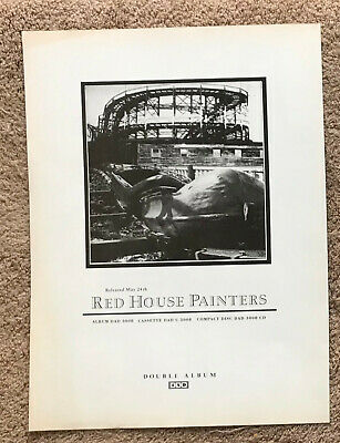 RED HOUSE PAINTERS - ROLLERCOASTER 1993 Full Page UK Magazine Ad 4AD • 3.95£