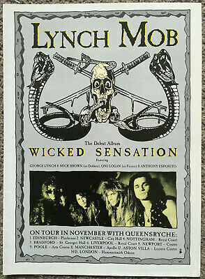 LYNCH MOB - WICKED SENSATION 1990 Full Page UK Magazine Ad • 3.95£