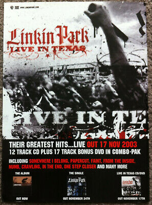 LINKIN PARK - LIVE IN TEXAS 2003 Full Page UK Magazine Ad • 3.95£