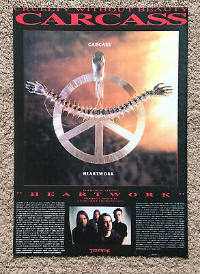 CARCASS - HEARTWORK 1993 Full Page UK Magazine Ad • 3.95£