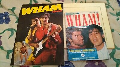 2 Vintage Retro Wham George Michael Magazines Grandreams Books Special • 40£