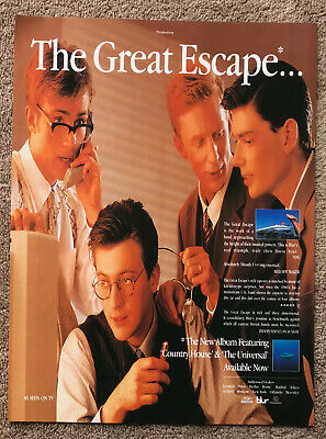 BLUR - THE GREAT ESCAPE 1996 Full Page UK Magazine Ad • 3.95£