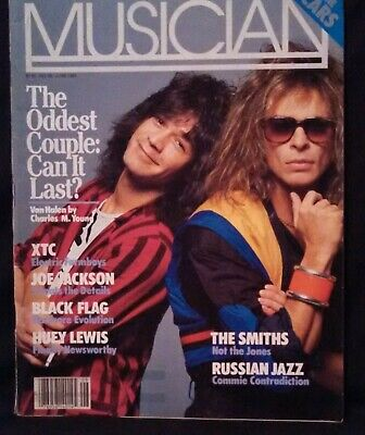 Musician Magazine June 1984 Eddie Van Halen & David Lee Roth- FREE SHIPPING! • 13.38£