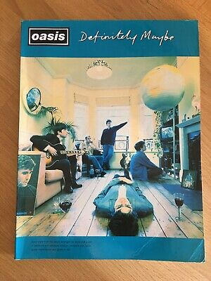 "Oasis ""Definitely Maybe  Guitar Tab Book, Lyrics & Chord Boxes Songbook • 2.95£"