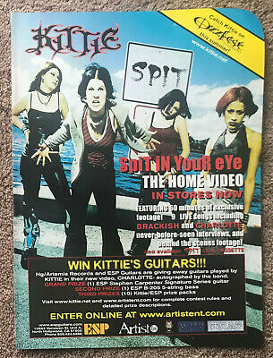KITTIE - SPIT IN YOUR EYE 2000 Full Page USA Magazine Ad • 3.95£