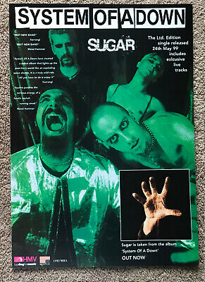 SYSTEM OF A DOWN - SUGAR 1999 Full Page UK Magazine Ad • 3.95£