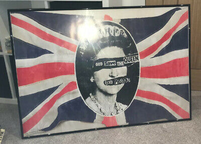 Sex Pistols - God Save The Queen Poster - Repro Of My Original 1977 Punk • 30£