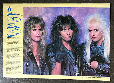 WASP - 1988 Full Page UK Magazine Poster W.A.S.P. • 3.95£