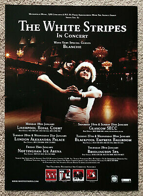 THE WHITE STRIPES - TOUR DATES 2003 Full Page UK Mag Ad  • 3.95£