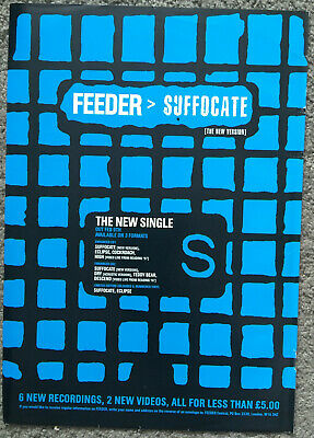 FEEDER - SUFFOCATE 1998 UK Magazine Ad • 3.95£