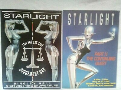 Starlight Rave Flyers 1992, Part 2 The Continuing Quest & Judgement Day.  • 4.50£