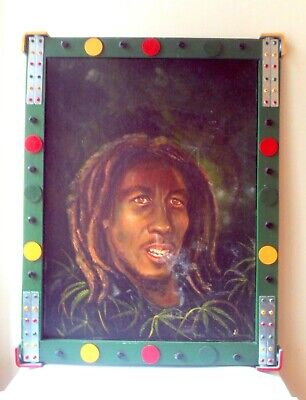 Bob Marley Painting Oil Or Acrylic In Heavy Duty Frame • 29.99£